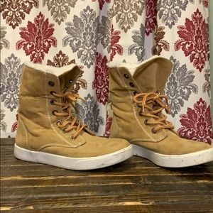 Faux work boots